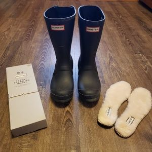 HUNTER BOOTS WITH BNIB SHEARLING INSOLES US 6
